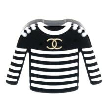 Lot 33: Chanel - 2018 - New - Sweater Brooch Pin - CC Logo