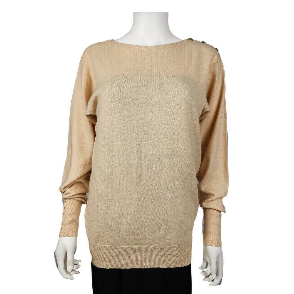 Chanel - Cashmere Sweater CC Shoulder Buttons Vintage