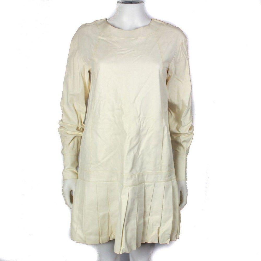 Chanel 2013 Leather Dress  13K - White Cream Around the