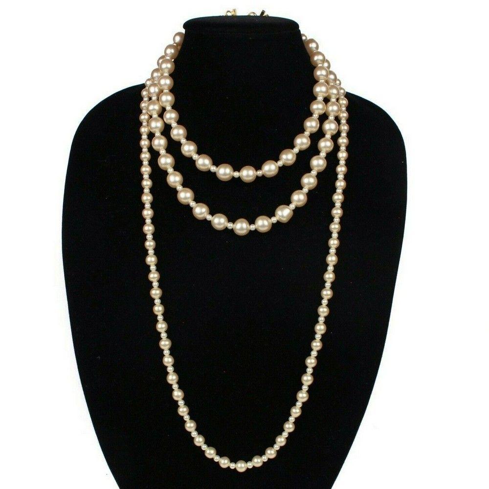 Chanel - Rare Vintage Pearl Necklace - Triple Strand -