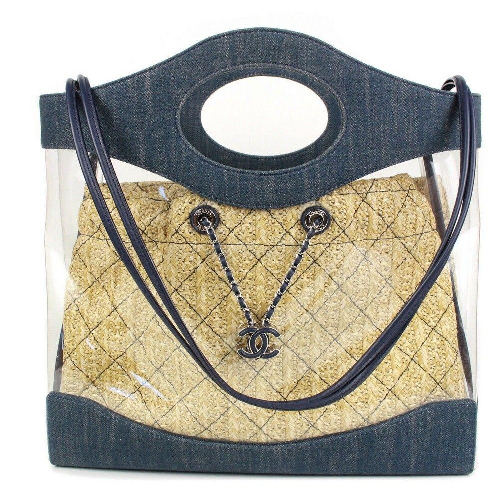 Chanel - Large - Denim - 31 PVC Shoulder Strap Handbag