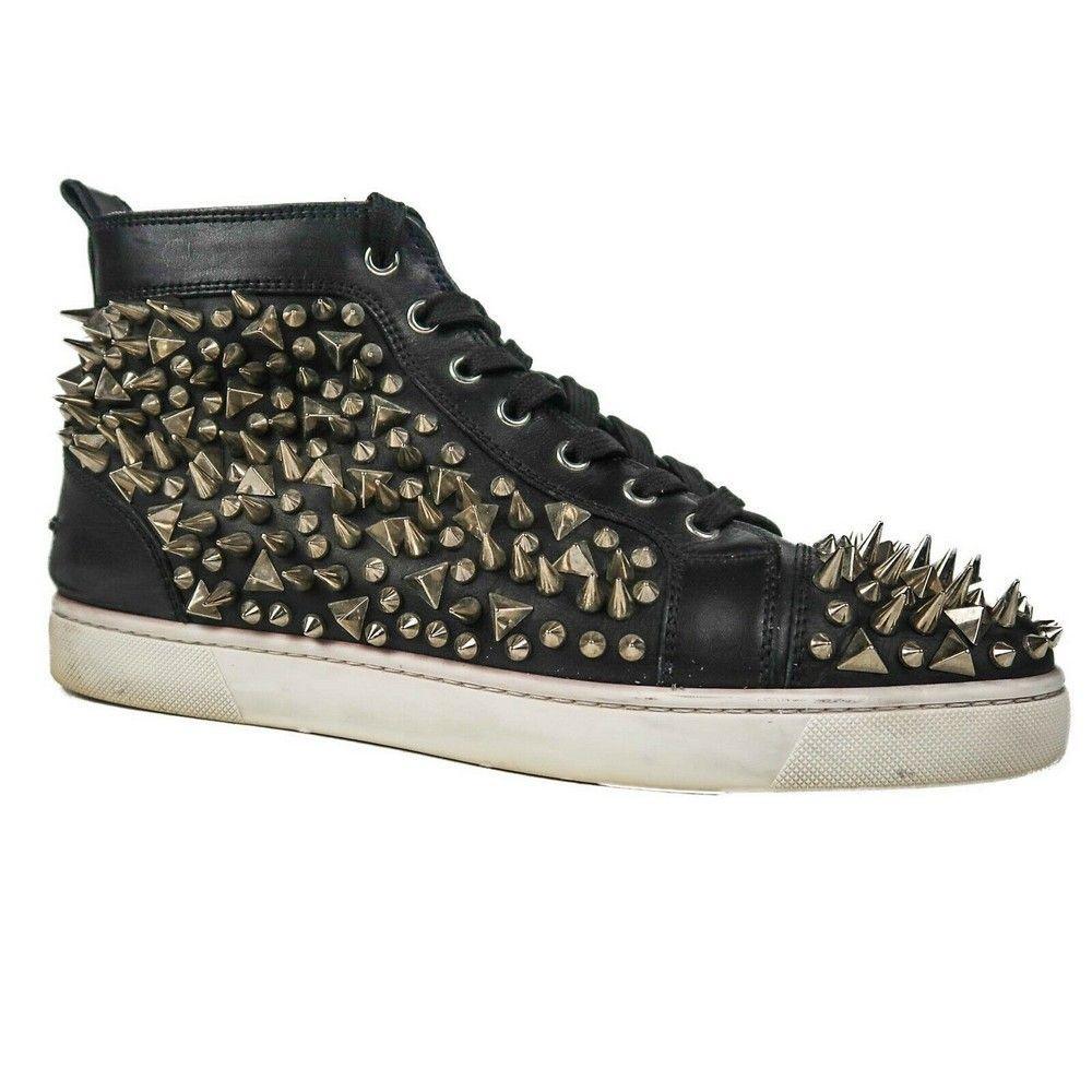 Christian Louboutin - Spike Sneakers Black Studded High