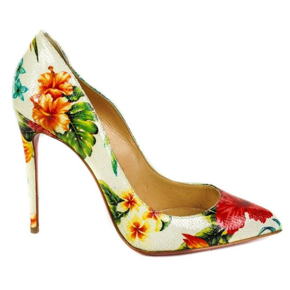 Christian Louboutin - Tropical Floral Print Leather