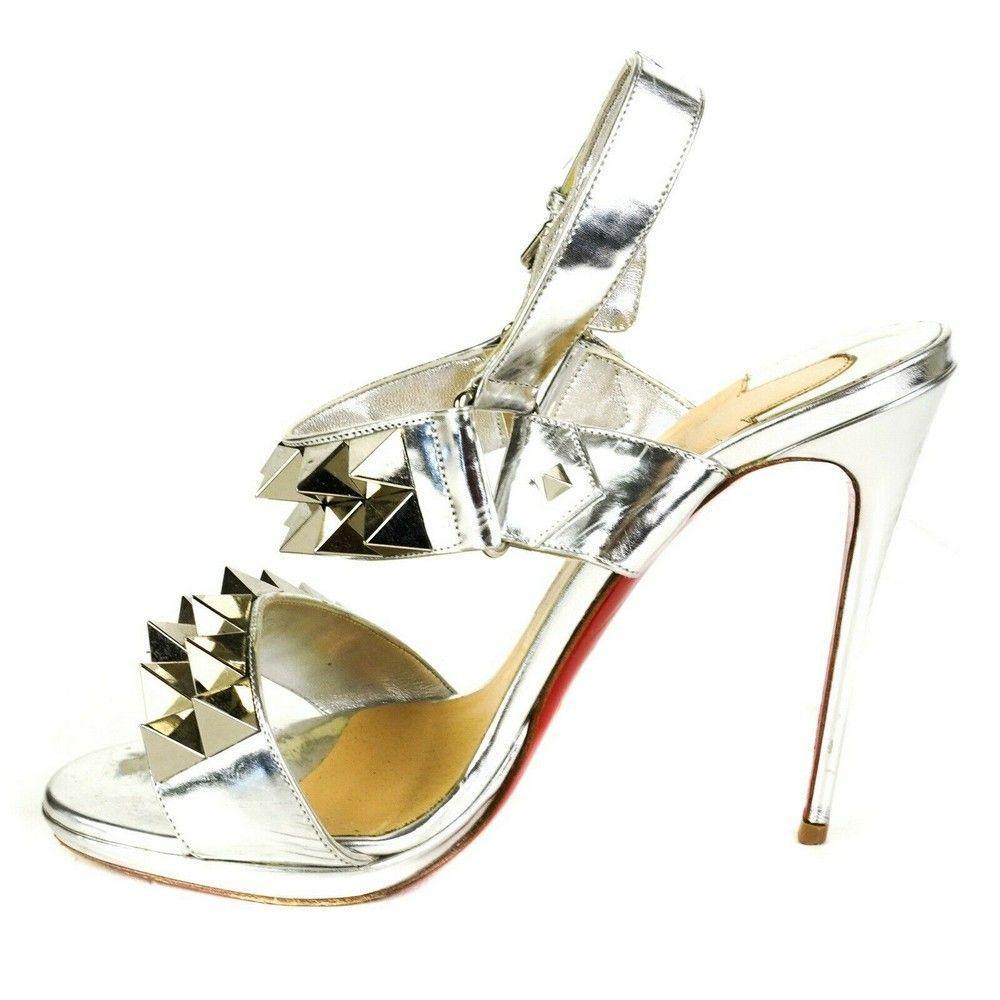 Christian Louboutin - Giant Spike Silver Heels -