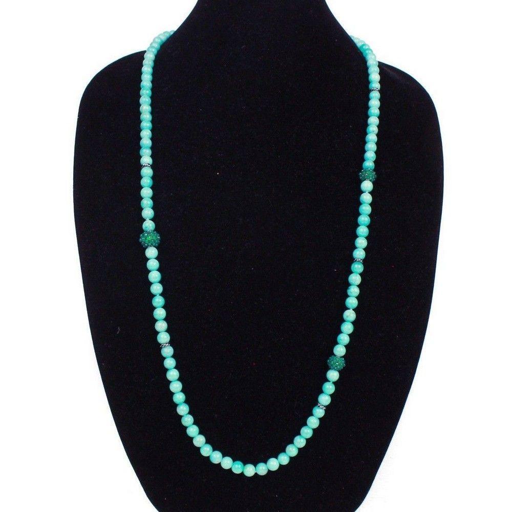David Yurman - New - Blue Pearl Necklace - Amazonite -