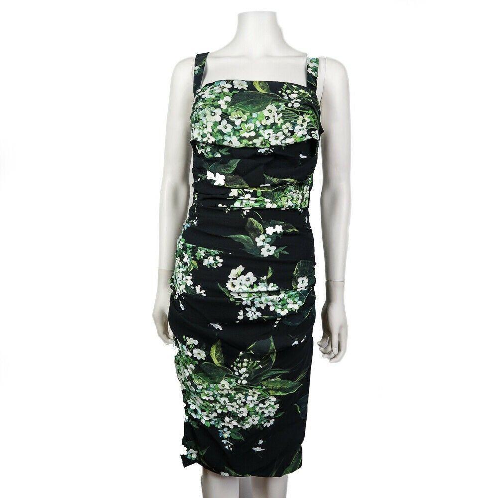 Dolce & Gabanna Floral Dress - Black Green White