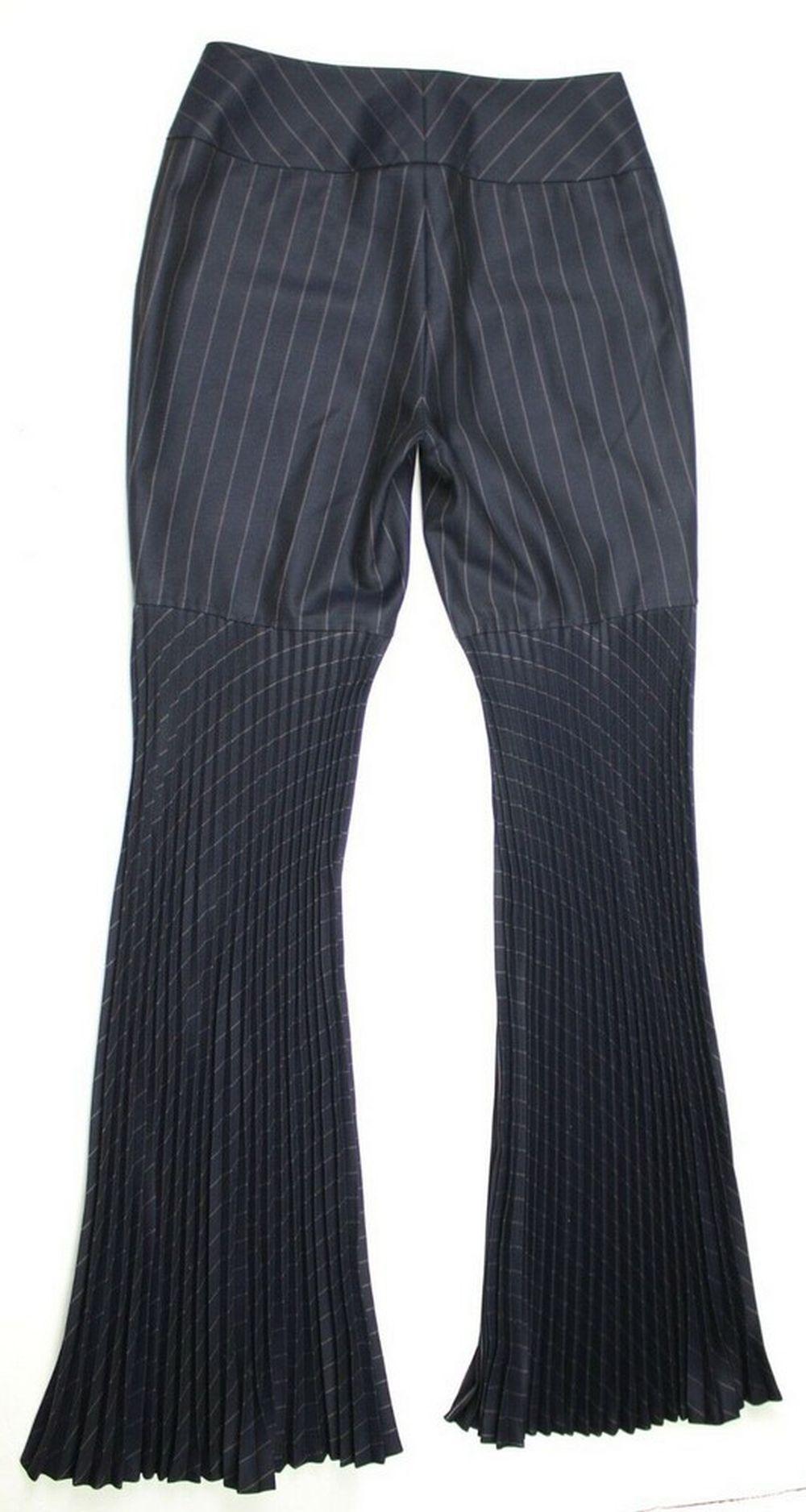 Dolce & Gabbana Bell Bottom Fringe Accordion Pants Blue