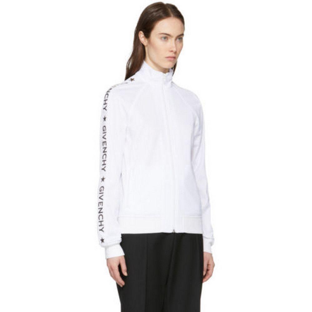 Givenchy New Track Jacket 2018 White Zip Up Star Coat
