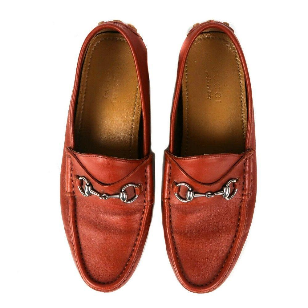Gucci - Driving Loafers - Horsebit - Orange Leather