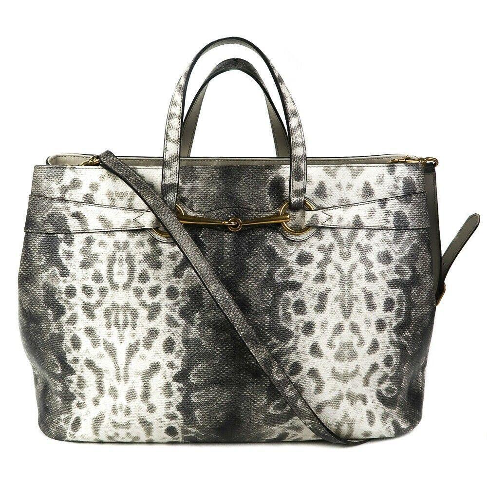 Gucci - Lizard Horsebit Tote Large Shoulder Strap Bag -