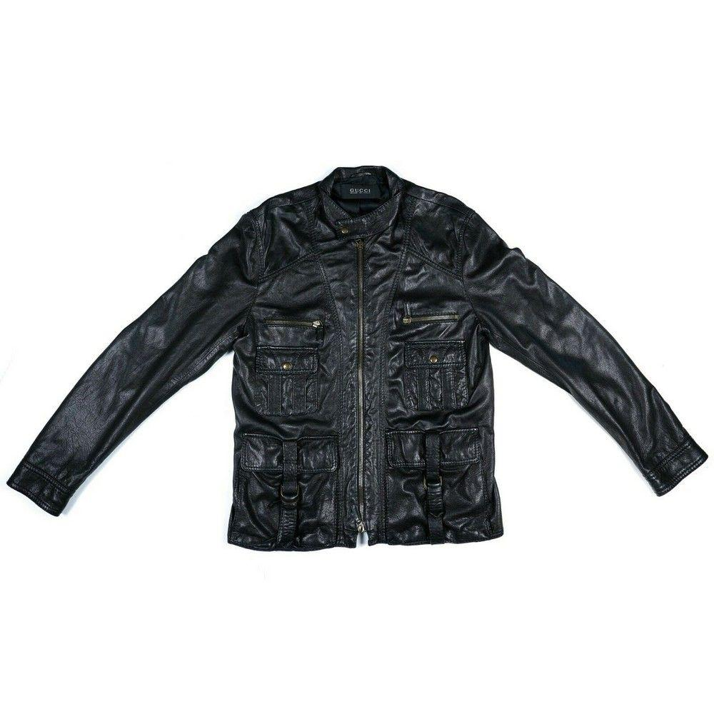 Gucci - Black Motorcycle Leather Jacket - Mens - M - 54