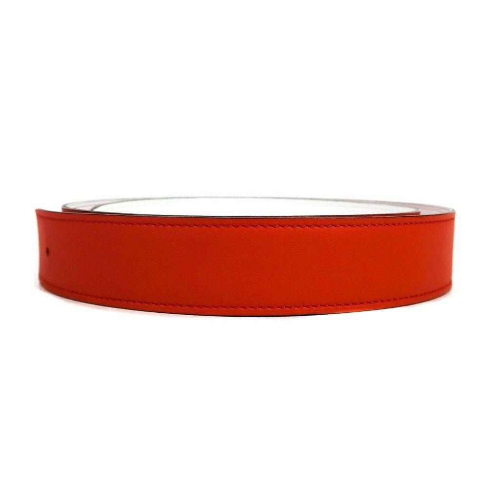 Hermes - New - Leather Belt - Reversible - Red - White