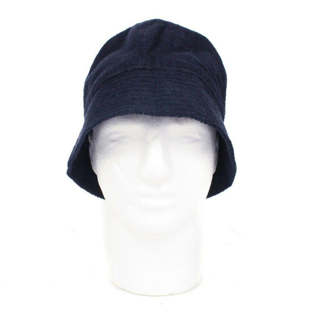 Hermes Hat - Black Terrycloth Bucket Hat - Size 58