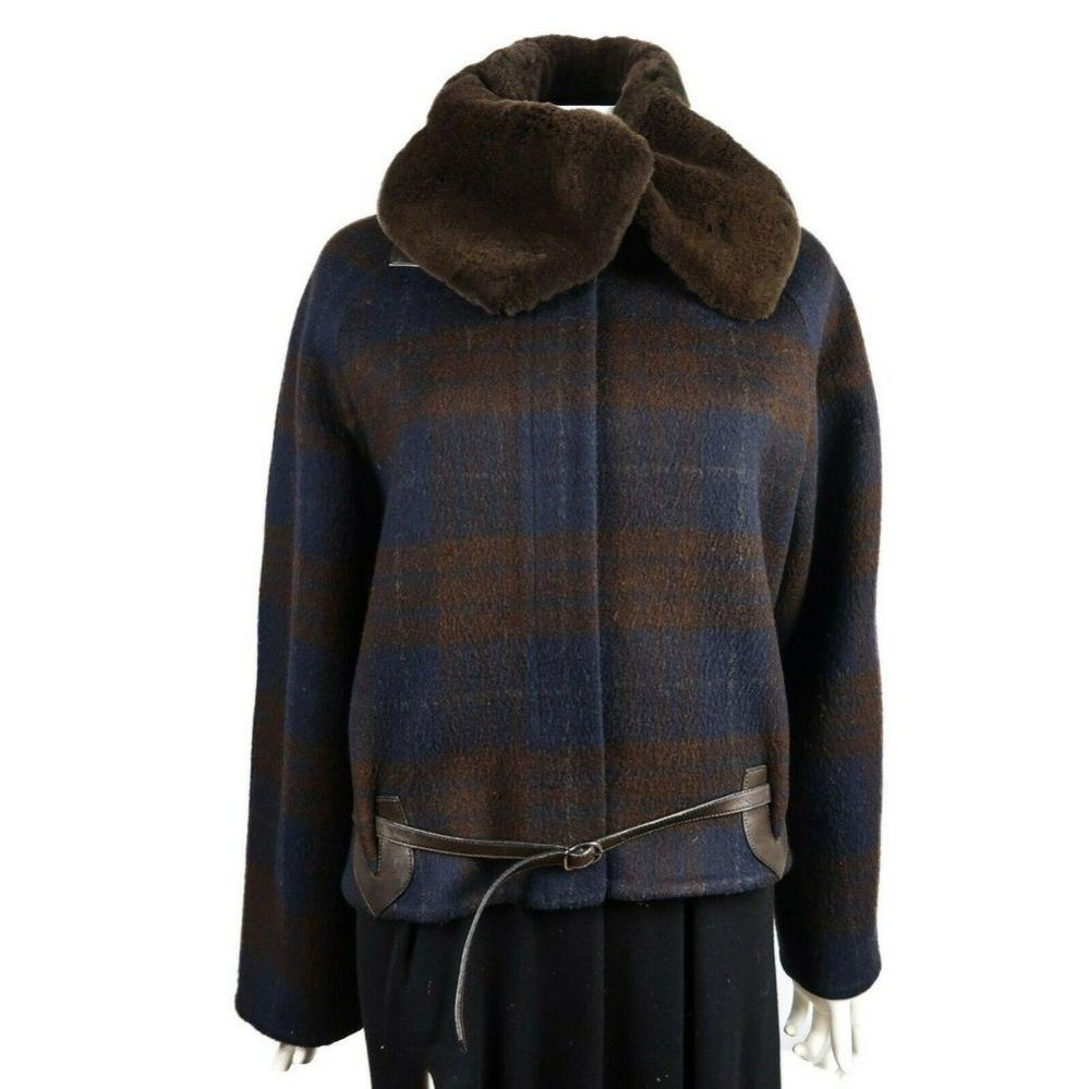 Hermes Mink Fur & Cashmere Coat - Large Collar - Brown