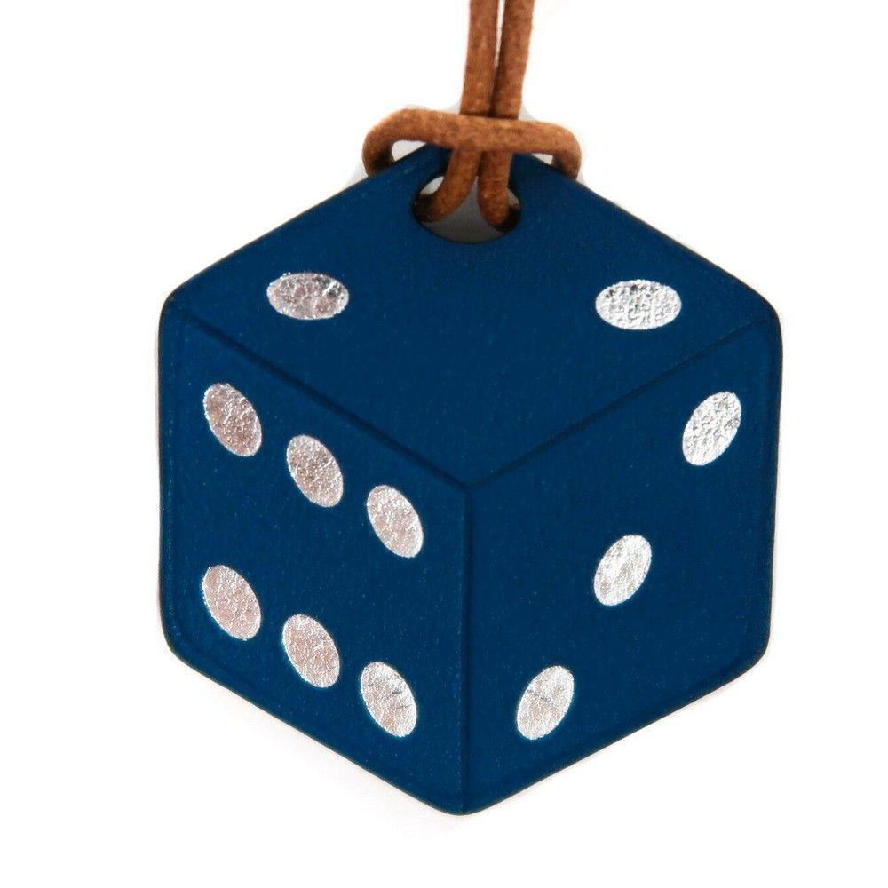 Hermes New Bag Charm - Dice Blue Leather À Vous De