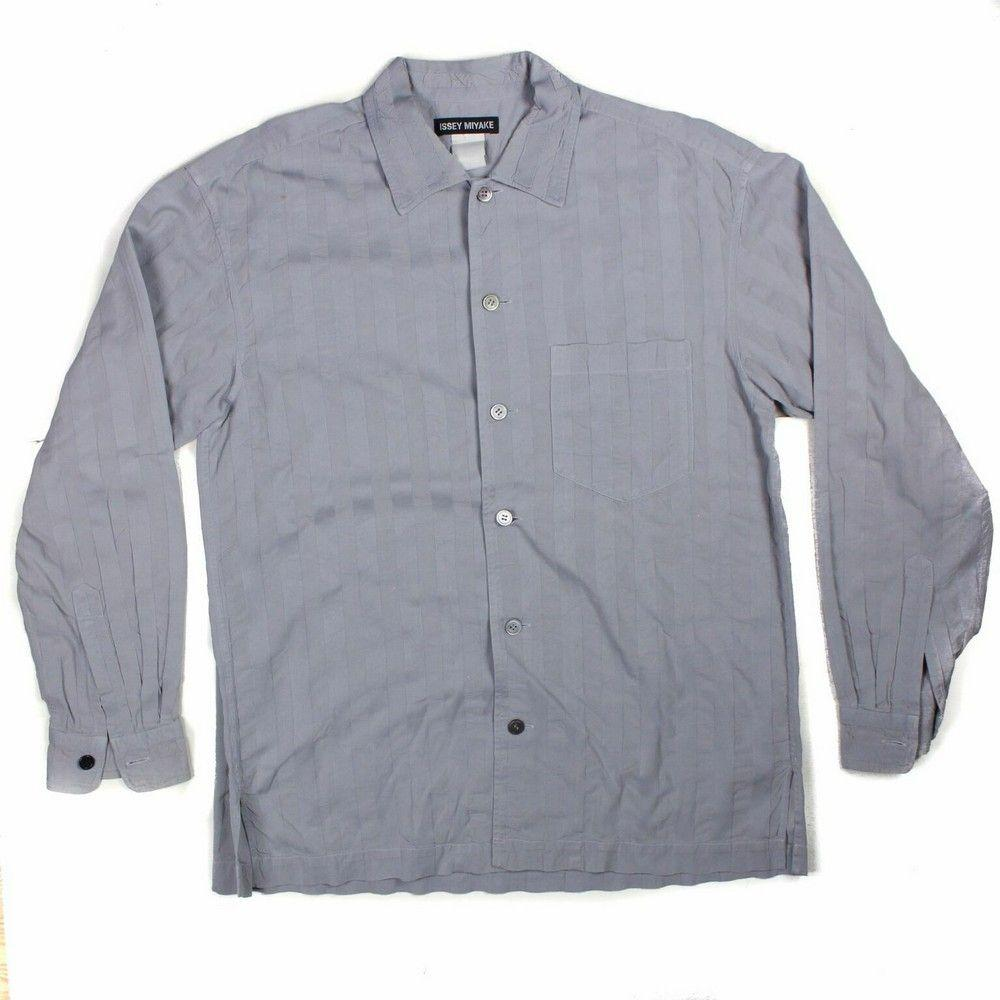Issey Miyake - Long Sleeve Button Down Shirt - Grey