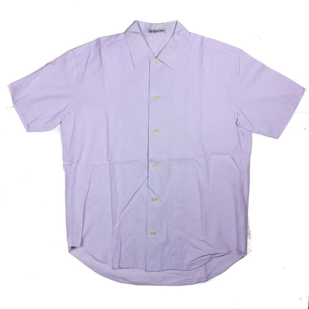 Issey Miyake Men's Shirt - Purple - Stripe Quilting - 3