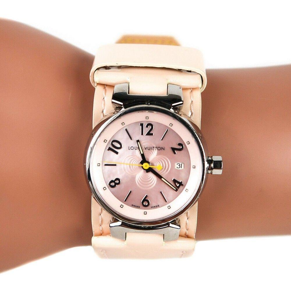 Louis Vuitton - Tambour Watch - Pink Vernis Leather -