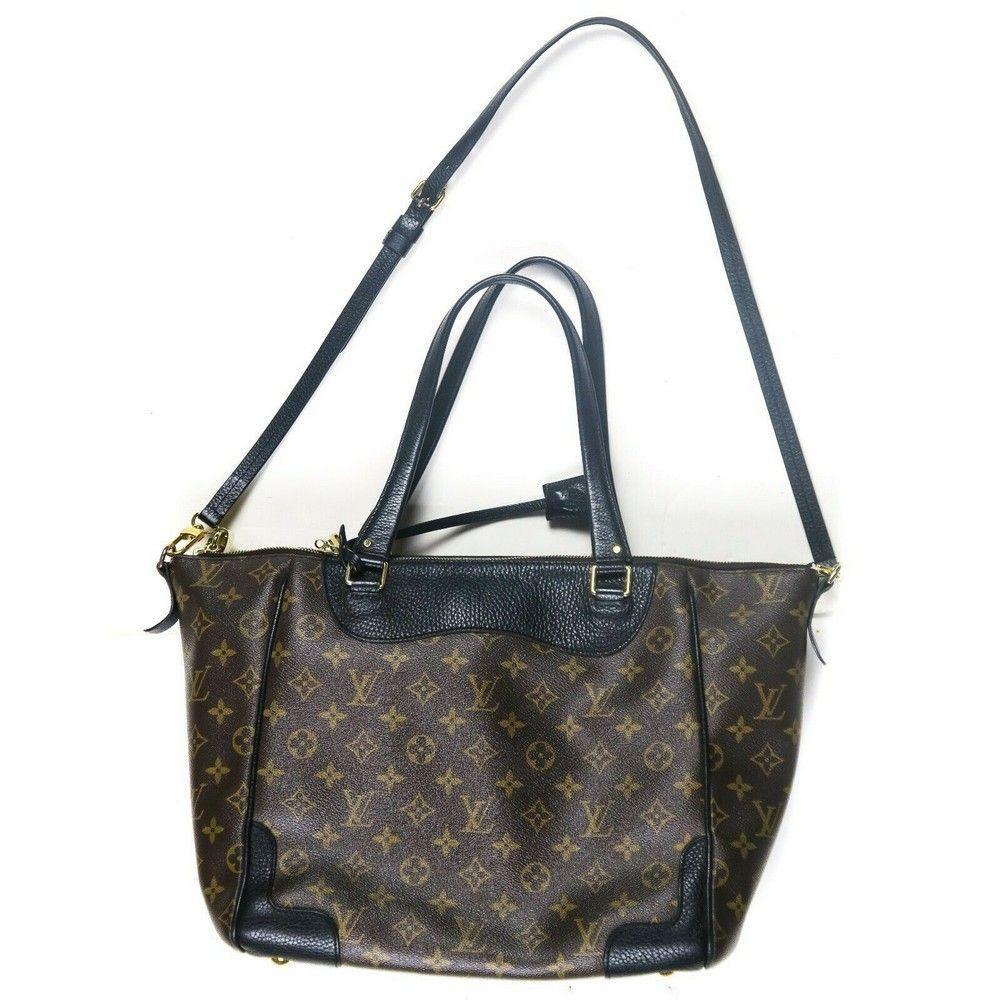 Louis Vuitton Black Leather Shoulder Bag - Large