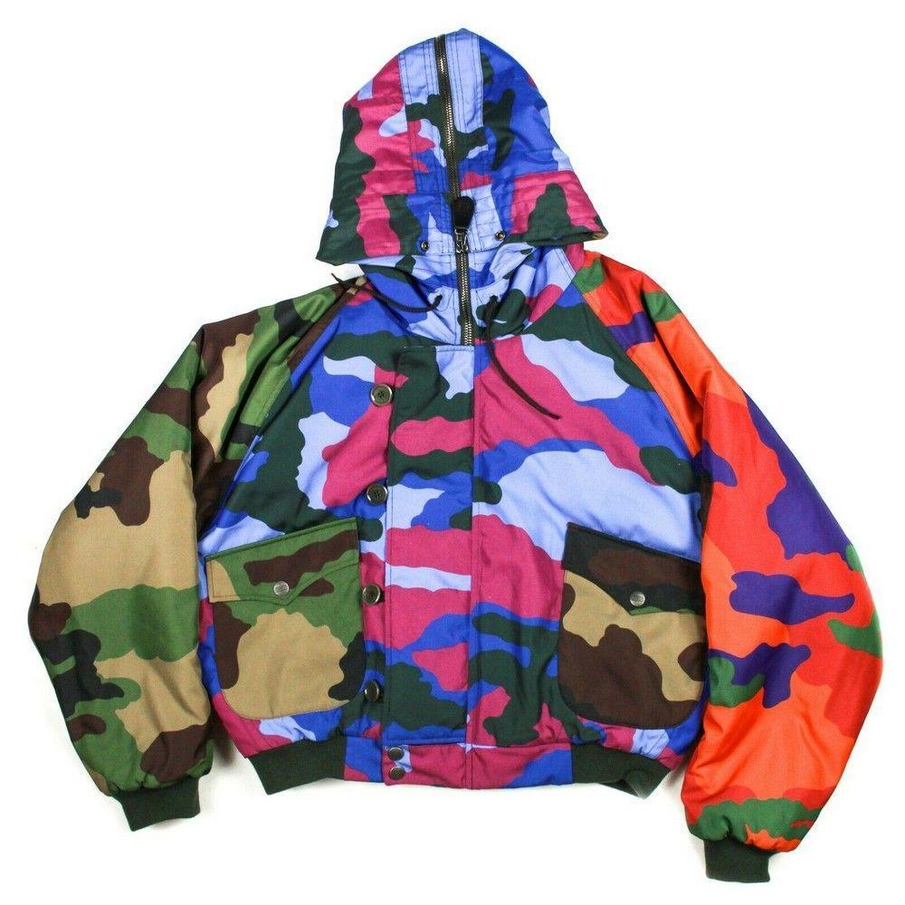 Moschino - Puffer Coat - Camo Print - Multicolor Zip Up