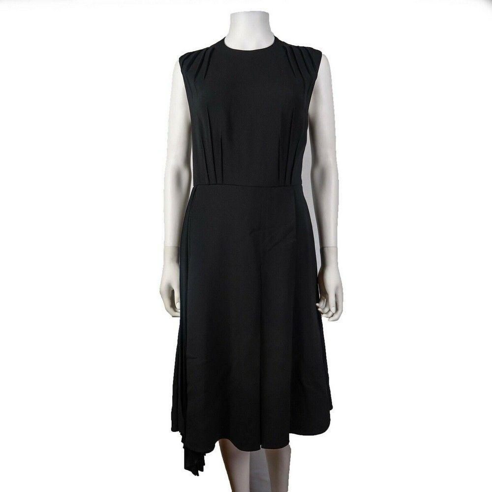 Prada Dress 2018 Black Sleeveless High Neck Pleated