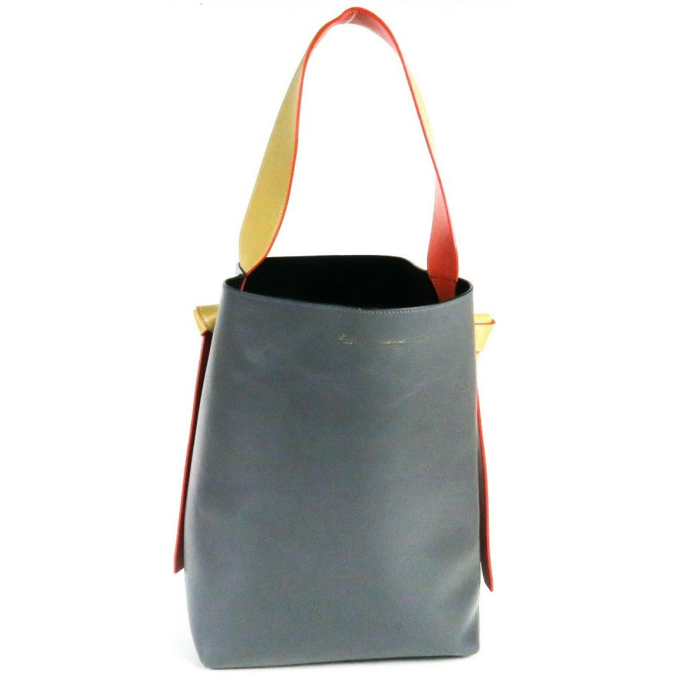 Celine - Twisted Cabas Tote Bag - With Wallet - Grey Blue Tan Red