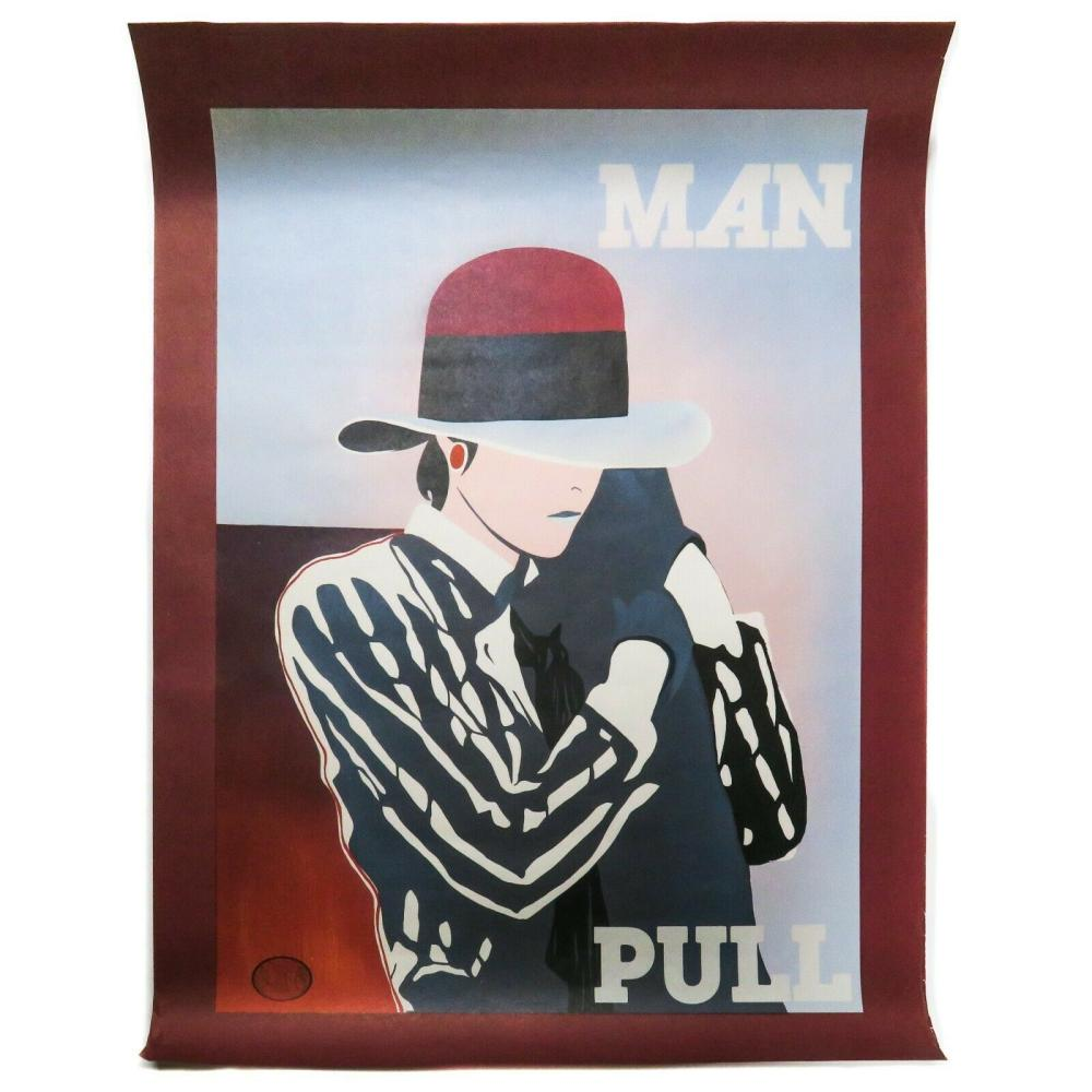 Ducelier - Large Art Print - Man Pull - 1930 Original Color Lithograph Poster