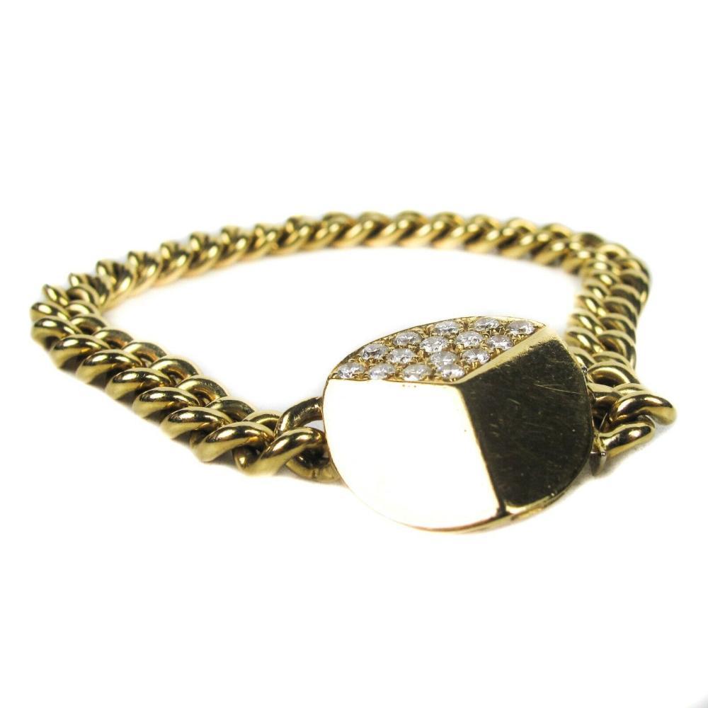 Gio Caroli - Bracelet - Diamond - 14K Gold - Chain Links