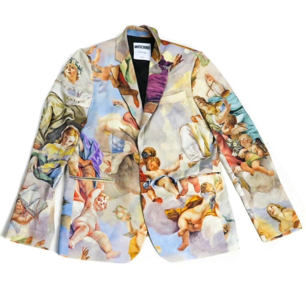 Moschino - Cherub Print - Blazer Jacket Coat - Mens - US 42 - L - Large
