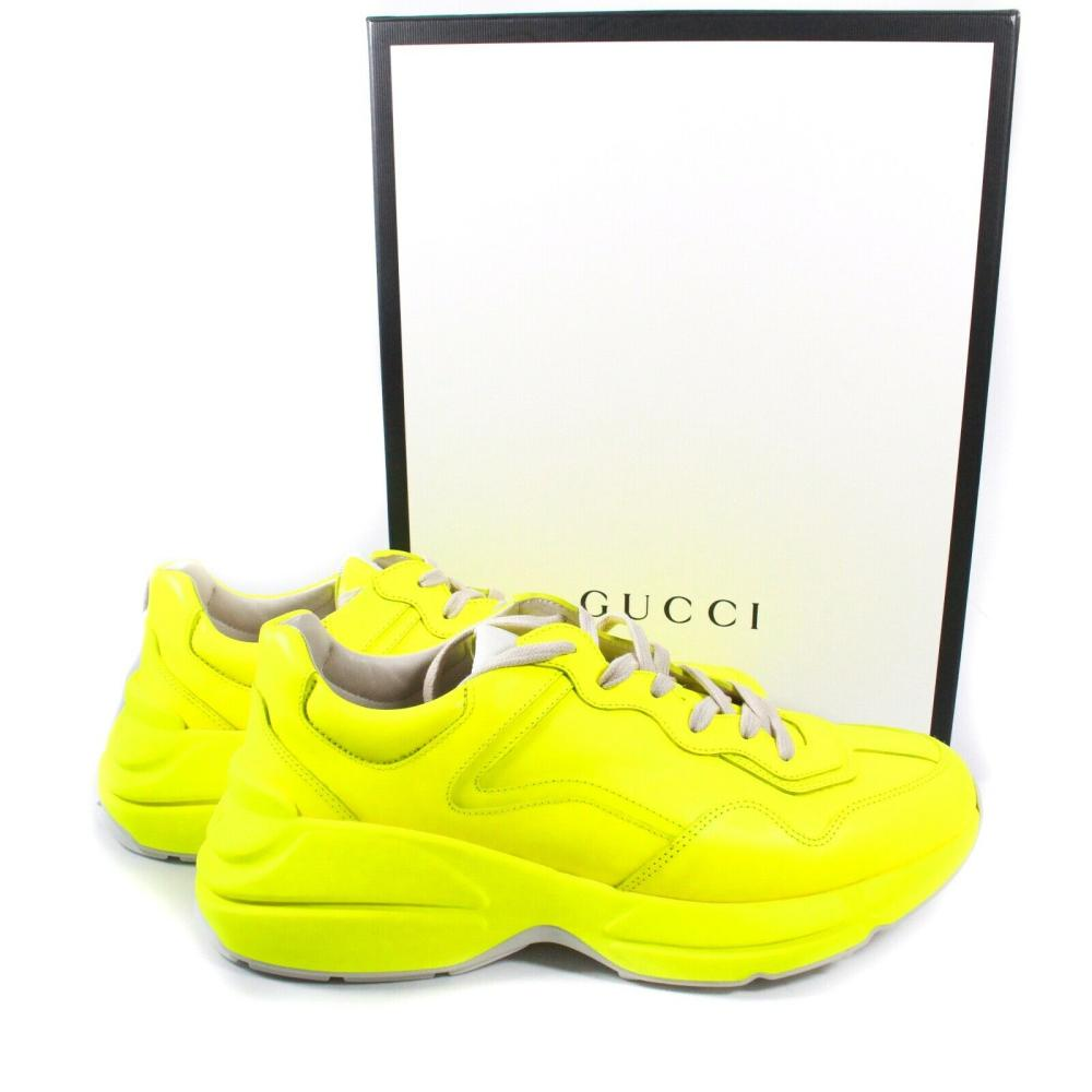 GUCCI - NEW RHYTON NEON YELLOW SNEAKERS