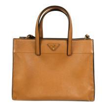 daef0ea7941 Prada Large Tote Crossbody Beige Panier Saffiano Lux Leather Logo Shoulder  Bag