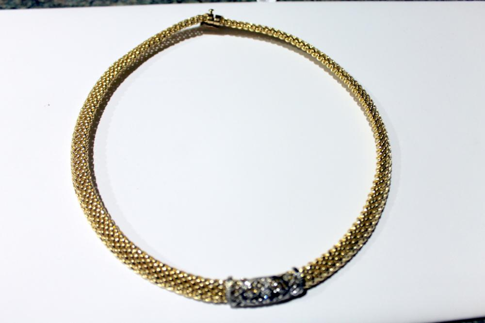 JEWELRY - GORGEOUS 14K GOLD NECKLACE
