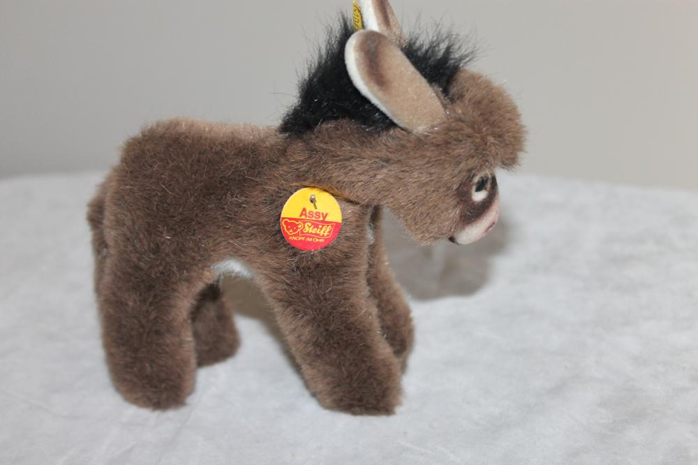 Steiff Assy Plush Donkey with all Tags