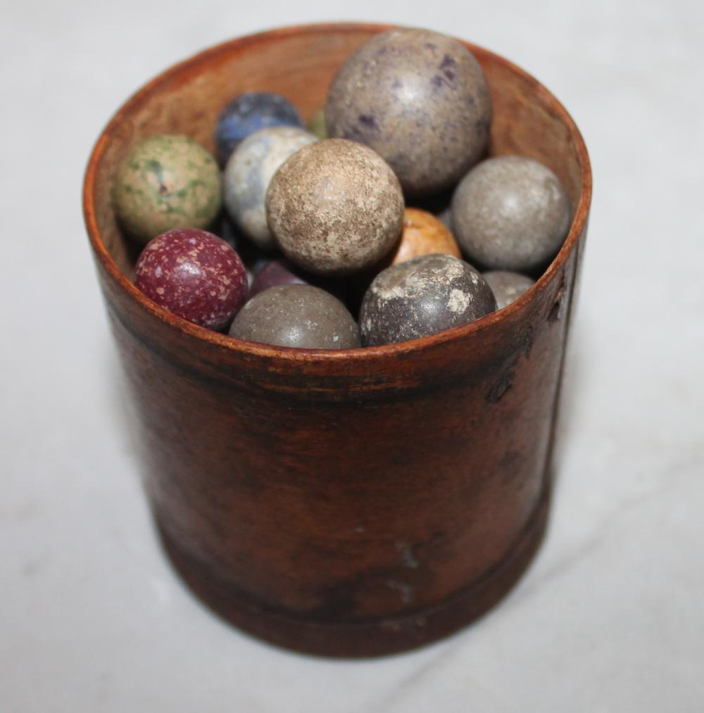 Hand-made Clay Marbles