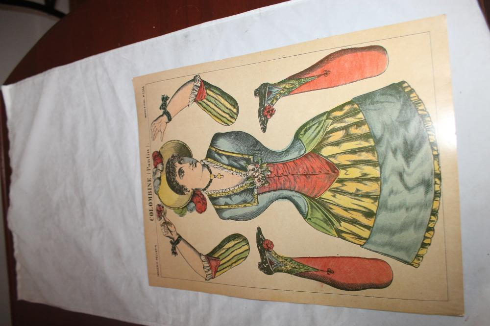 Pantin-Colombine Jumping Jacks c1860's Paper Doll
