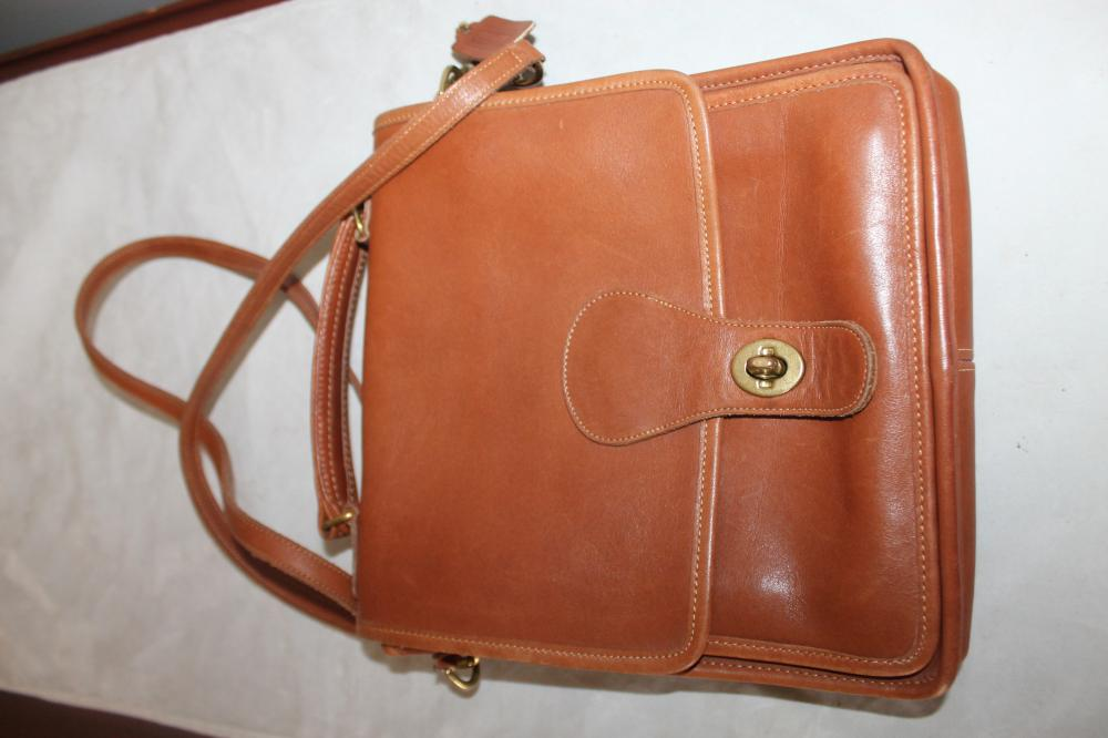 Coach Leather Handbag with Removeable Cross-over Strap