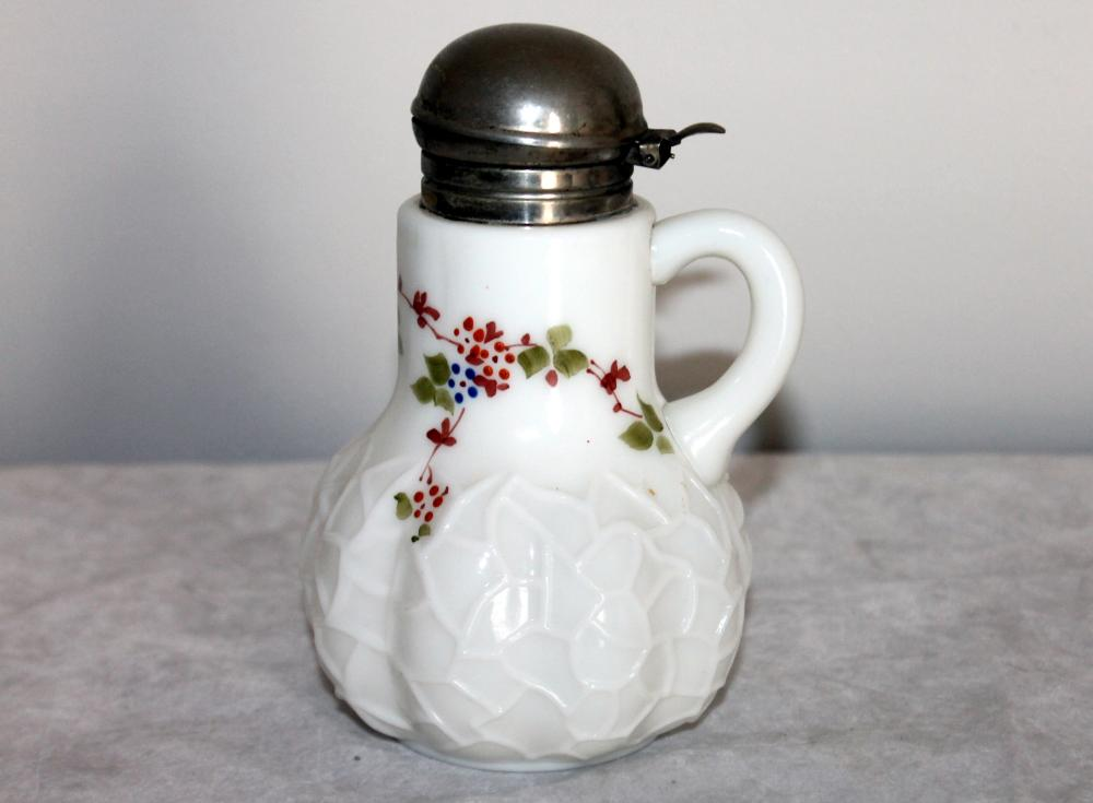 CASED GLASS VICTORIAN SYRUP PITCHER