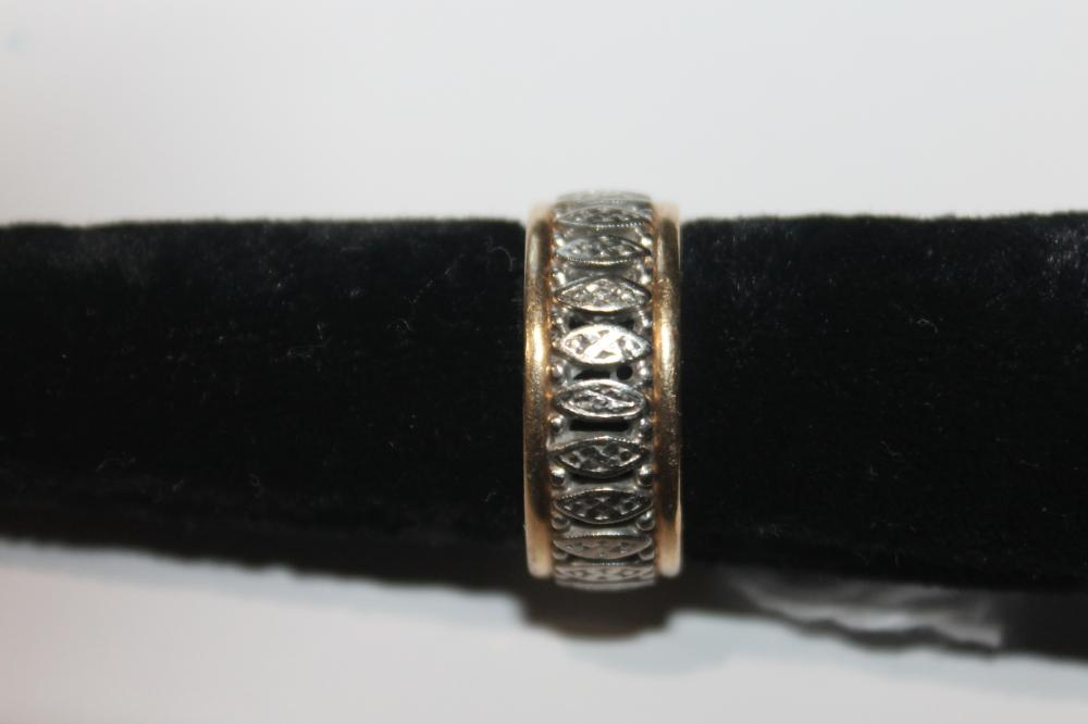 JEWELRY - MARKED 14K TWO TONED RING