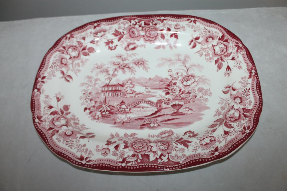 Royal Staffordshire Clarice Cliff Tonquin Red Serving Platter