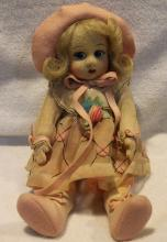 Beautiful 12 Inch Tall Lenci Fabric Doll Made In Italy