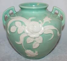 Weller Pottery Cameo 7 1/2 Inch Tall Vase