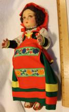 Fabulous c1920's Lenci Cerce Cloth Doll Made In Italy