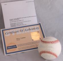 2002 Steve Carlton Philadelphia Phillies Autographed Baseball With COA