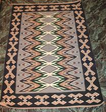 Native American Indian Teec Nos Pos Navajo Rug 75 1/2 Inches By 52 Inches