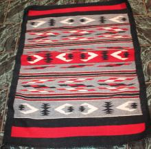 Native American Indian Ganado Navajo Rug 46 Inches By 40 Inches