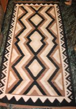 Native American Indian Western Reservation Navajo 119 Inches By 58 Inches Large Room Rug Has Damage