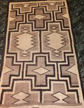 Native American Indian Navajo Rug 87 Inches By 48 Inches