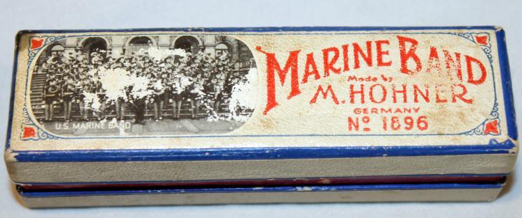 M. Hohner Marine Band Harmonica #1896 In Original Box