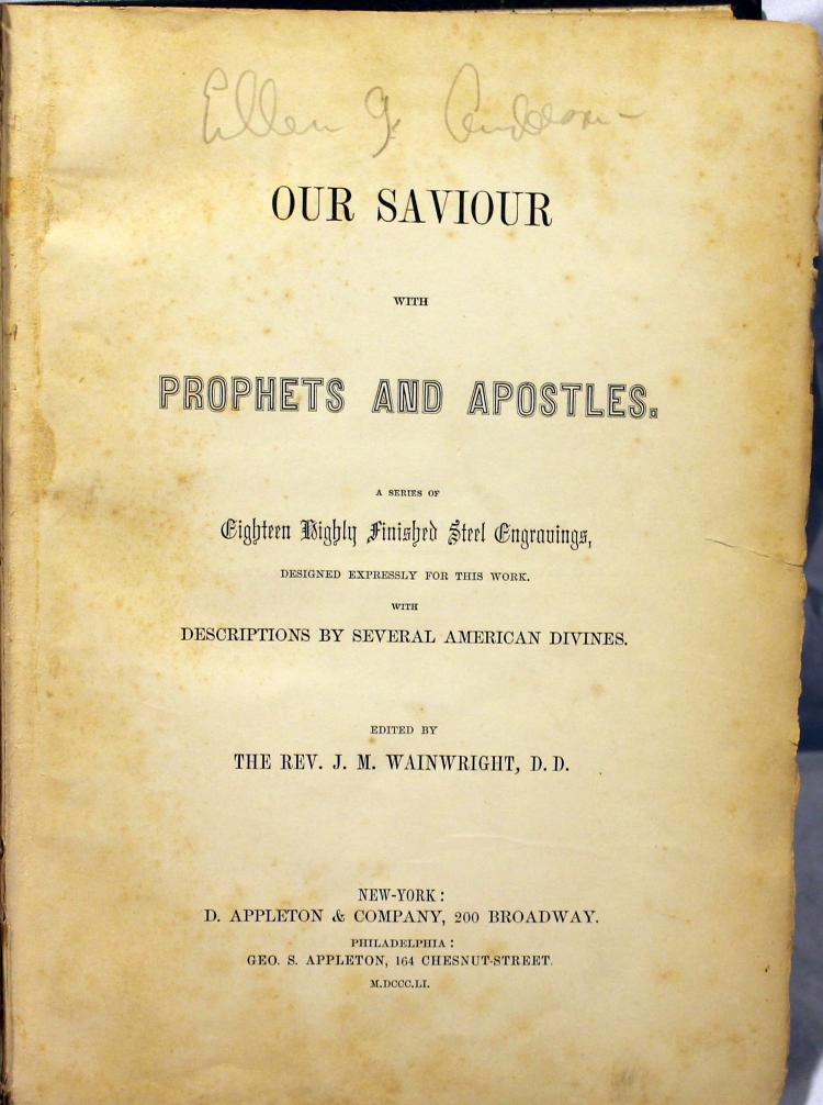 Wainwright Our Savior With Prophets And Apostles Book Published 1851