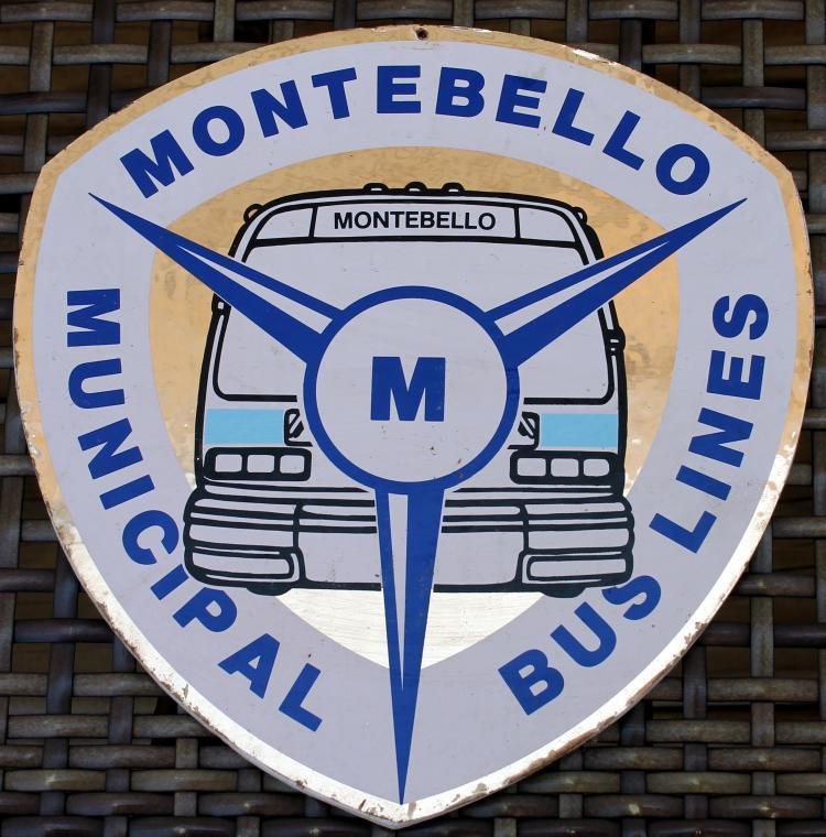 c1970's Montebello Municipal Bus Lines Sign
